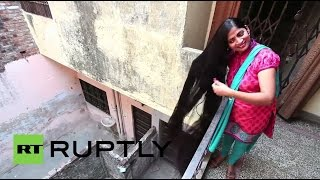 India: 7-foot-long hair could make this woman a world record holder