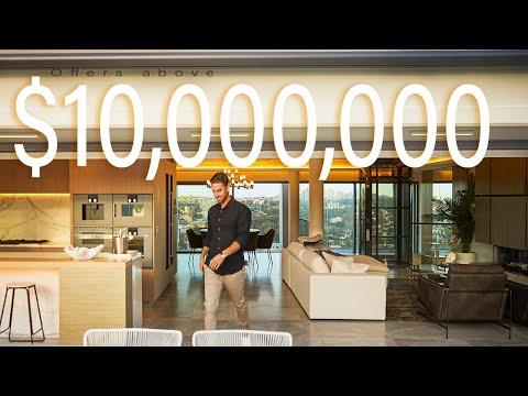 Luxury Home Tour - $10 MILLION Potts Point PENTHOUSE (2020) with epic Sydney Harbour Bridge Views