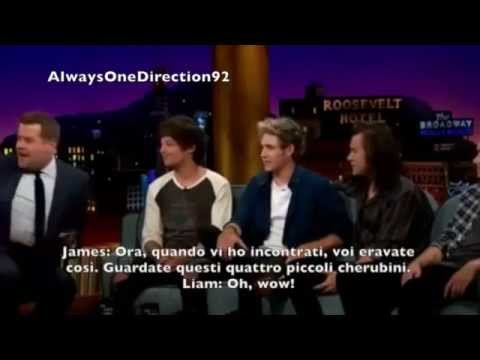 One Direction on the Late Late Show with James Corden - SUB ITA