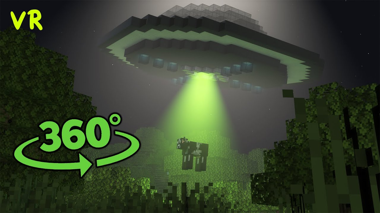 👽Alien Abduction 360° Video - Minecraft VR || UFO