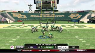 NCAA Football 13 Demo (Xbox 360): Kansas State at Baylor - Full Game [1080P HD]
