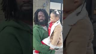 Homeless gentleman embraces Down syndrome