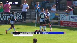 2018-09-01 | Maidenhead United vs Bromley | Highlights