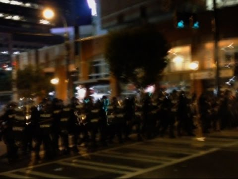 Raw: Charlotte Police Clear Street Protest
