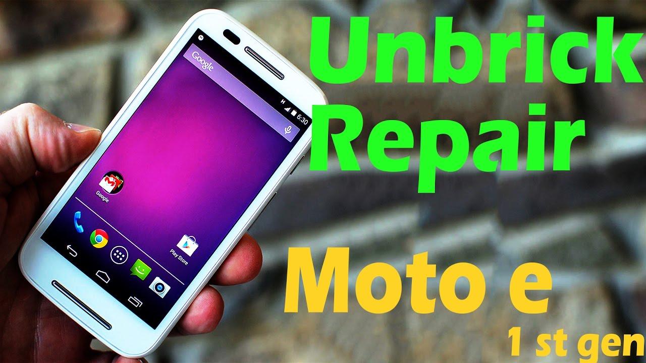 """how to Unbrick moto E """"1"""" gen; """" brick fix/unbrick - YouTube"""