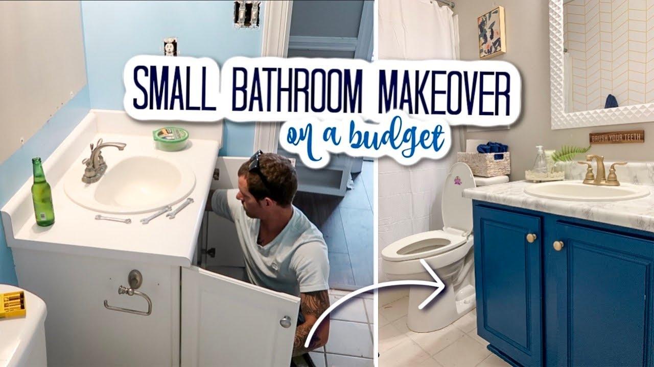 Diy Small Bathroom Makeover On A Budget, Ideas For Bathroom Makeovers On A Budget