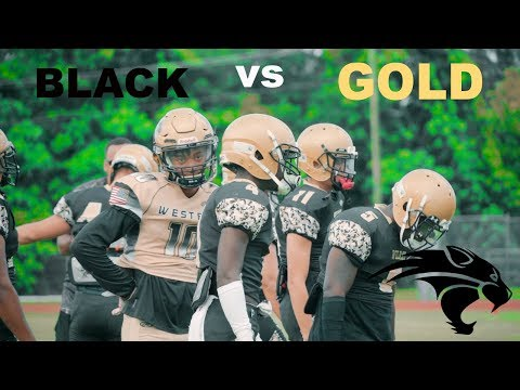 THE SCHOOL FOR WEBS!?!? || Western high school Black and gold game.