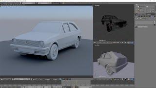 Car modeling in Blender Volkswagen Polo 90 (моделирование автомобиля) Speed modeling