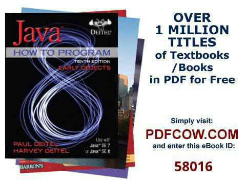 Java How To Program Early Objects 10th Edition Youtube