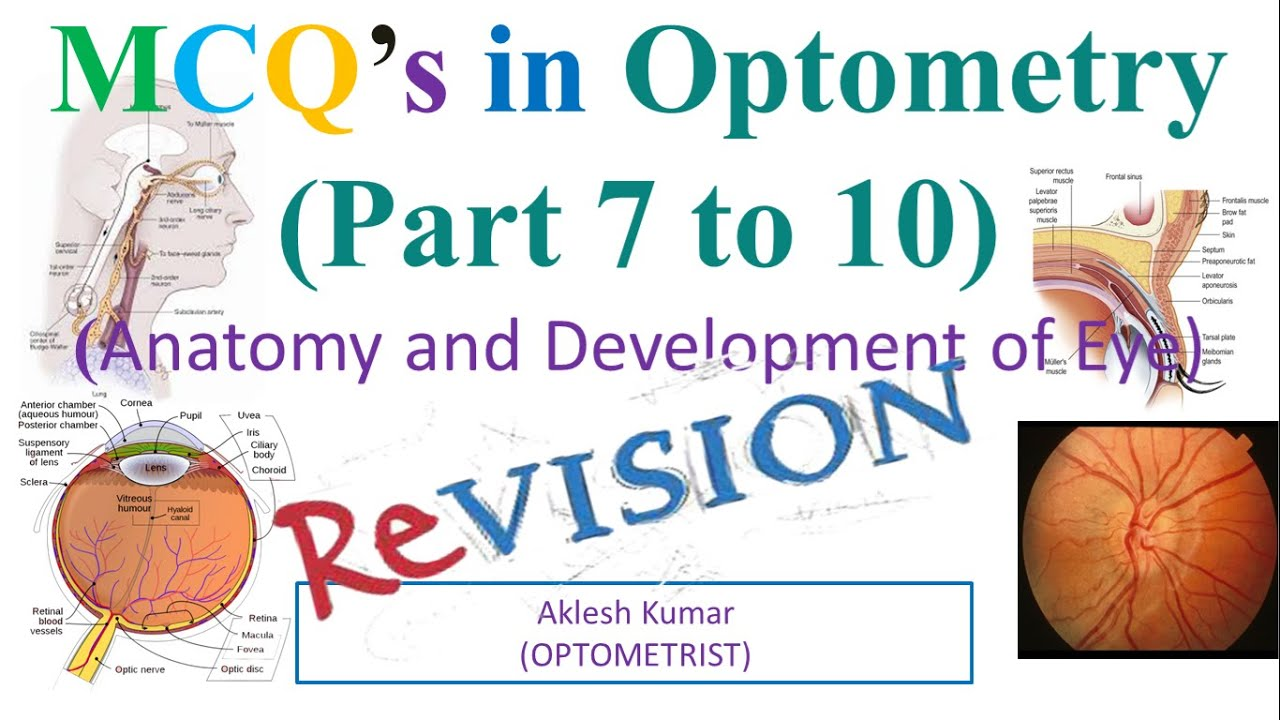 MCQ'S in Optometry (anatomy and Development of eye) Part 7 ...