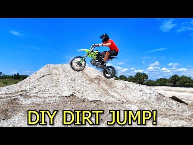 MAKING MY OWN PIT BIKE JUMP!