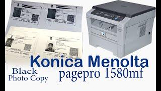 konica menolta1580mf dupplicate photo copying is black extra dark printing page1580mf