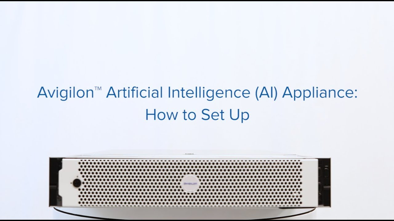 Setting Up the Avigilon AI Appliance