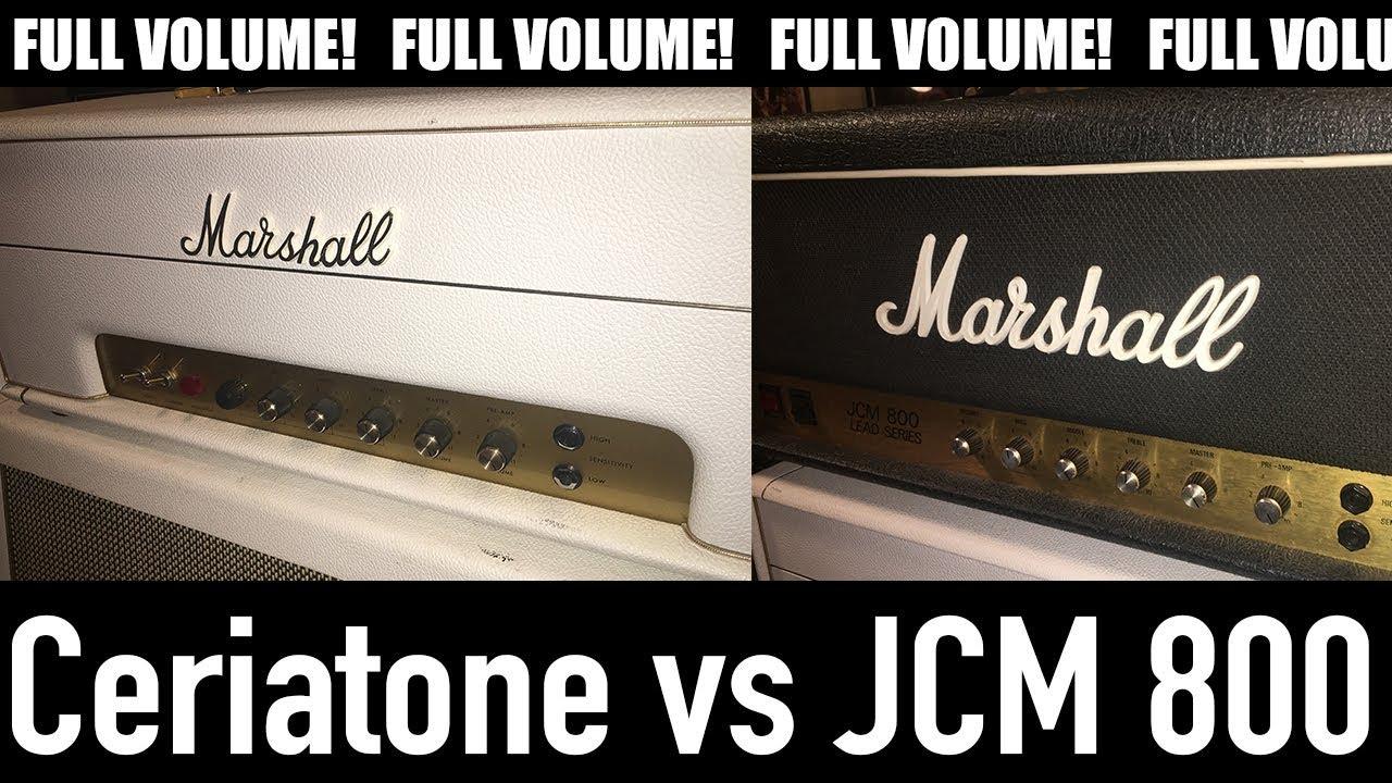 Marshall JCM 800 VS Ceriatone - Смотреть видео бесплатно онлайн