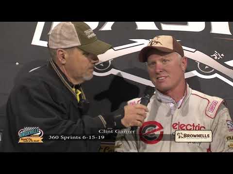 Knoxville Raceway Victory Lane Interview Clint Garner - June 15, 2019