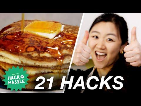 I Tested 21 Pancake Hacks In A Row • Tasty