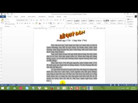 Hướng dẫn chèn chữ nghệ thuật (WordArt), Chia cột và tạo Dropcap