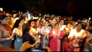 #JusticeForAsifa huge candle march rally at Ind...