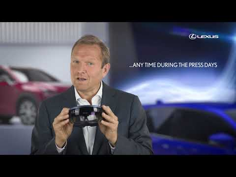 Lexus Europe Virtual Reality Press Conference at the Frankfurt Motor Show