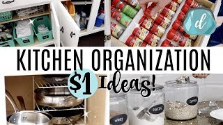 KITCHEN ORGANIZATION ON A DIME!  💙 Dollar Tree Deals & More!
