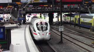 Deutsche Bahn ICE Train 1526 Arriving into Hamburg, Germany Station