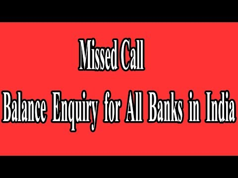 Missed Call Balance Enquiry for All Banks in India || Check Bank Balance in Mobile || Tamil Technic