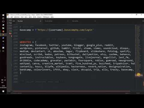 Python Tutorial - || Looking-Glass v1.00 || Create a SIMPLE username DOXer || Hacking/Info-Sec || thumbnail