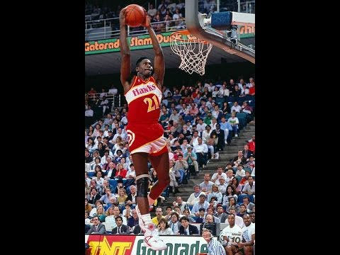 Dominique Wilkins Two Handed Windmill Dunk 1986