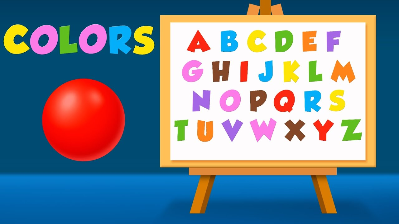 alphabet and colors for children to learn with color balls and surprise eggs learning videos