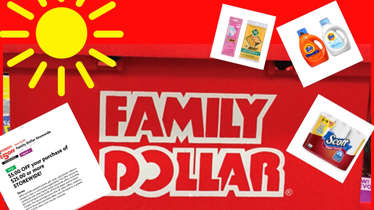 Family Dollar $5/$25 + Clearance and more Clearance coupon ends 525