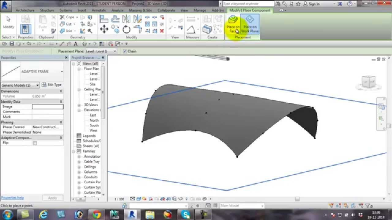 Tensile Structure On Revit Youtube