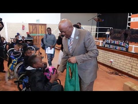 Minister Jeff Radebe visits Thembalethu School for Learners with Special Needs