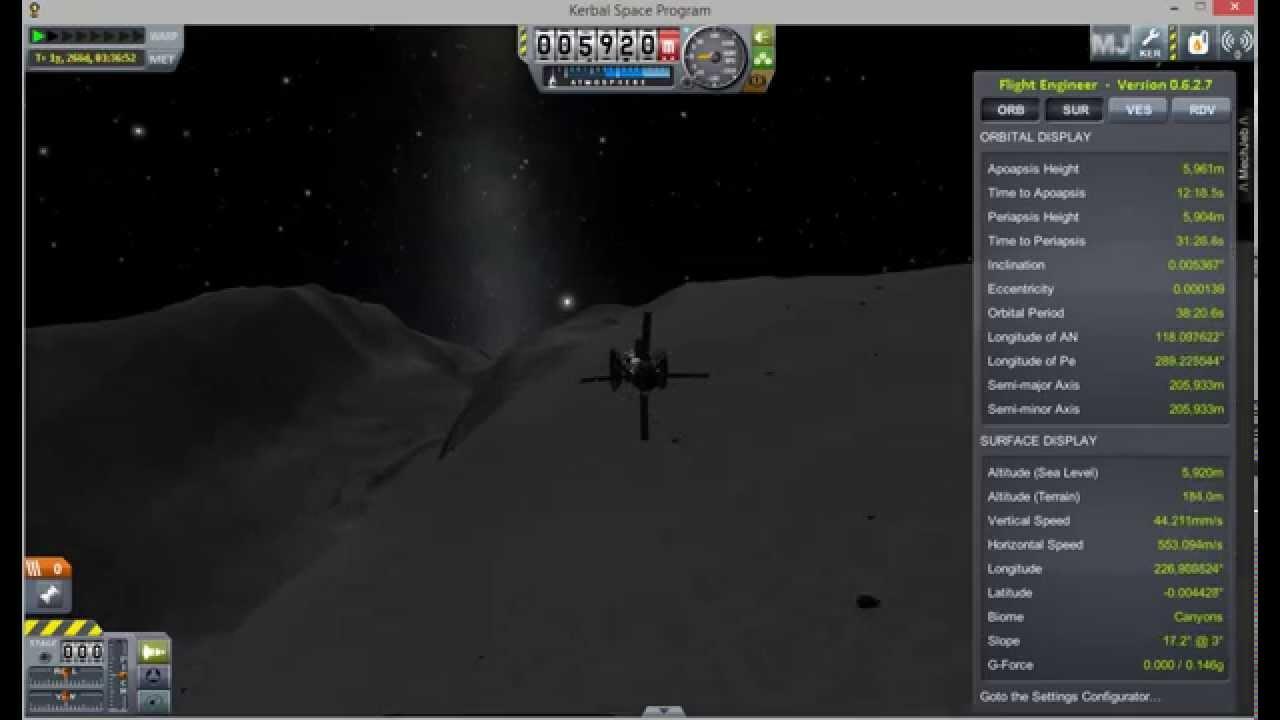 Kerbal Space Program - Mun Lowest Orbit