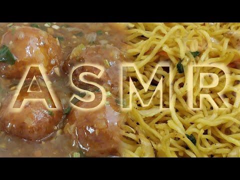 NOODLES AND MANCHURIAN ASMR | INDIANSTREETFOOD EATING SOUND | DETECTIVE BITES