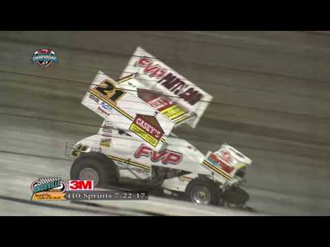 Knoxville Raceway 410 Highlights - July 22, 2017