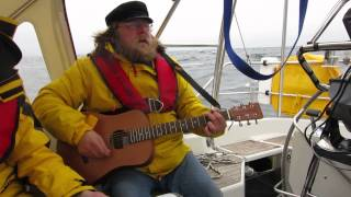 Tore Mentyjaervi plays DDT on the Barents sea Капитан Колесников ДДТ на Баренцевом море
