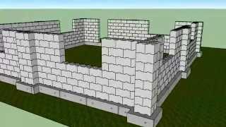 Пример укладки стены и углов дома.(, 2015-03-20T06:19:36.000Z)