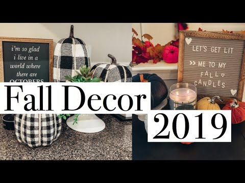 FALL DECOR HOME TOUR 2019 | TARGET DOLLAR SPOT, AMAZON, TJMAXX
