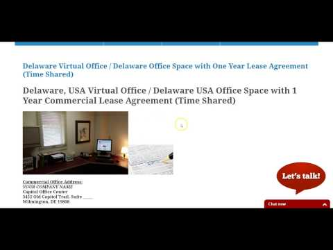 Delaware Virtual Office - Delaware Space with Unique Suite Number