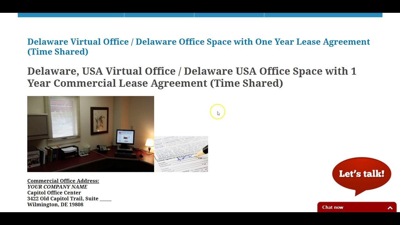 Delaware Virtual Office Delaware Space With Unique Suite Number