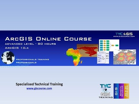 ArcGIS 10 x Course, Advanced Level - Online GIS Training by