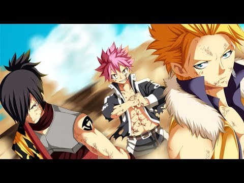 Natsu,Sting And Rogue Vs Mard Geer AMV Breaking Through(Re-uploaded)