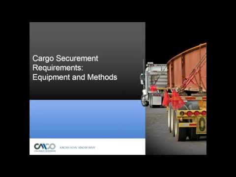 Safety Webinar:  Load Securement- Selecting & Using Tie Downs & Binders