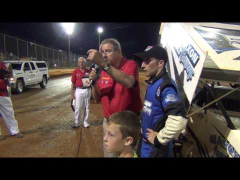 Lincoln Speedway 410 Sprint Car Victory Lane 8-27-16