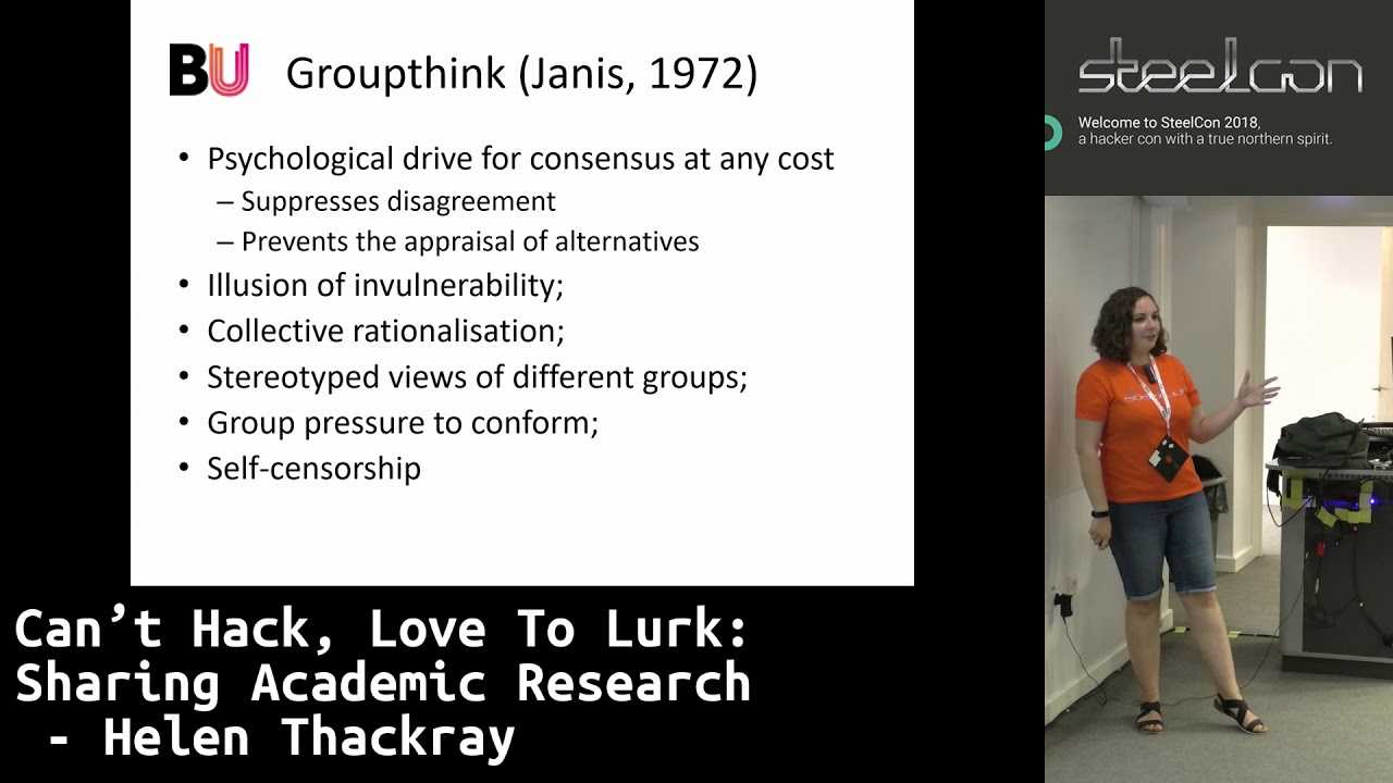 SteelCon 2018 Can't Hack, Love To Lurk: Sharing Academic Research by Helen  Thackray