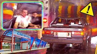 CAR WASH + NO WINDOWS = BAD IDEA...