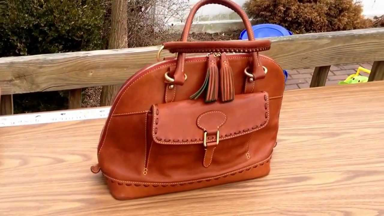Dooney Bourke Florentine Domed Satchel Wear Tear Patina How The Leather Has Aged