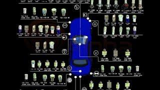 Замена галогенновых на светодиодные лампы Skoda Fabia2