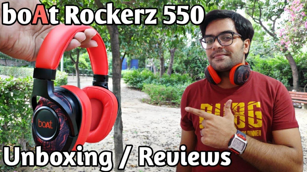 Boat Rockerz 550 Wireless Headphone Unboxing Reviews Best Bluetooth Headphones Under 2000 Youtube