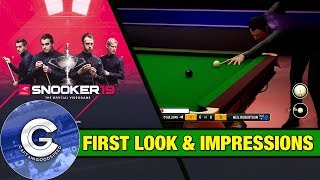 IT'S FINALLY HERE! | Snooker 19 First Look (PS4/Xbox One/PC) | First Impressions